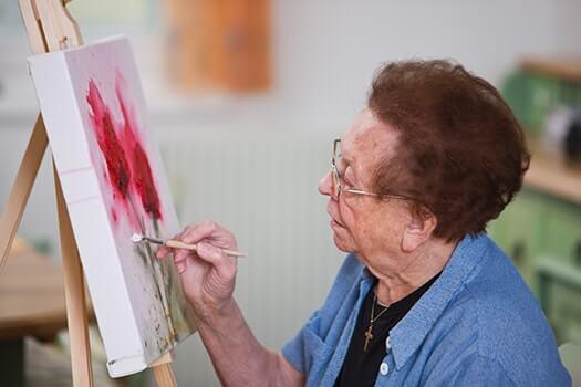 Senior-Woman-Painting-